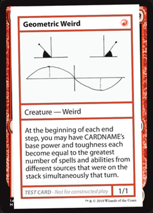 《Geometric Weird》[Mystery Booster Playtest Cards] 赤