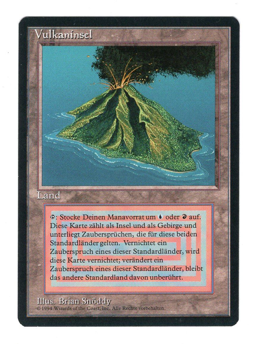 【黒枠DE】《Volcanic Island》[3ED]土地R NM+ #4641