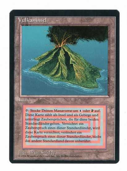 【黒枠DE】《Volcanic Island》[3ED] 土地R NM #5456