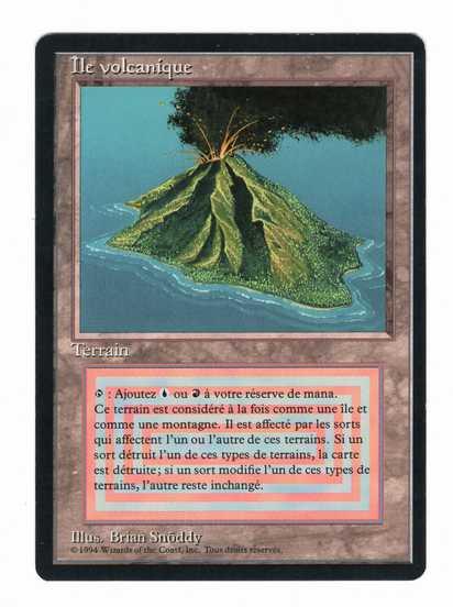 【黒枠FR】《Volcanic Island》[3ED] 土地R SP #5458