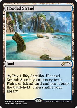《溢れかえる岸辺/Flooded Strand》[その他イベント記念系] 土地