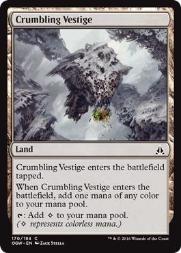 《崩壊する痕跡/Crumbling Vestige》[OGW] 土地C