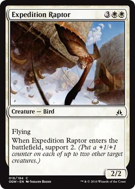 【Foil】《探検の猛禽/Expedition Raptor》[OGW] 白C