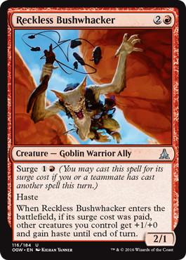 《無謀な奇襲隊/Reckless Bushwhacker》[OGW] 赤U