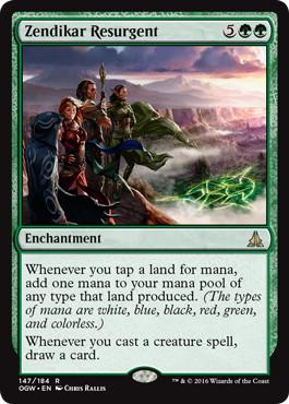 【Foil】《ゼンディカーの復興者/Zendikar Resurgent》[OGW] 緑R