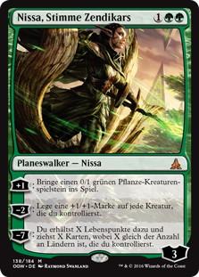 《ゼンディカーの代弁者、ニッサ/Nissa, Voice of Zendikar》[OGW] 緑R