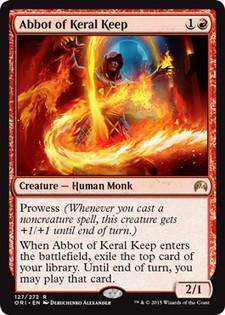 《ケラル砦の修道院長/Abbot of Keral Keep》[ORI] 赤R