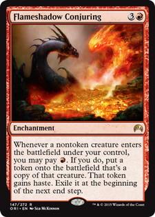 《炎影の妖術/Flameshadow Conjuring》[ORI] 赤R