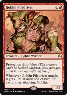 《ゴブリンの群衆追い/Goblin Piledriver》[ORI] 赤R