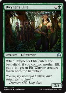 《ドゥイネンの精鋭/Dwynen's Elite》[ORI] 緑U
