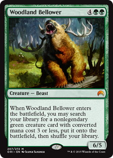 《森林の怒声吠え/Woodland Bellower》[ORI] 緑R