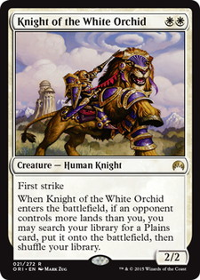 【Foil】《白蘭の騎士/Knight of the White Orchid》[ORI] 白R
