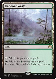 《ラノワールの荒原/Llanowar Wastes》[ORI] 土地R