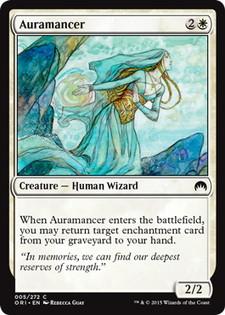 【Foil】《オーラ術師/Auramancer》[ORI] 白C