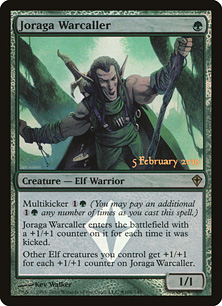 【Foil】《ジョラーガの戦呼び/Joraga Warcaller》[発売記念プロモ] 緑