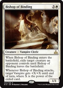 《束縛の司教/Bishop of Binding》[RIX] 白R