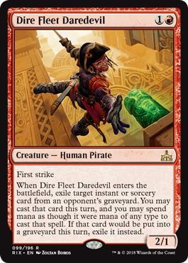 《凶兆艦隊の向こう見ず/Dire Fleet Daredevil》[RIX] 赤R