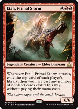 《原初の嵐、エターリ/Etali, Primal Storm》[RIX] 赤R