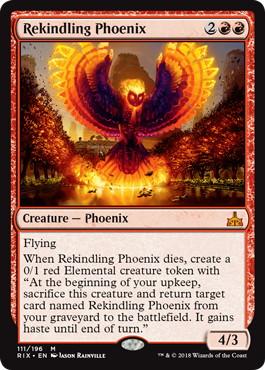 《再燃するフェニックス/Rekindling Phoenix》[RIX] 赤R