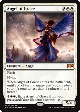 【Foil】《恩寵の天使/Angel of Grace》[RNA] 白R