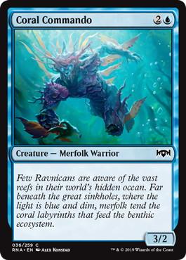《珊瑚の猛士/Coral Commando》[RNA] 青C