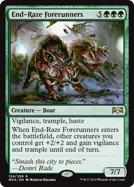 《終末の祟りの先陣/End-Raze Forerunners》[RNA] 緑R