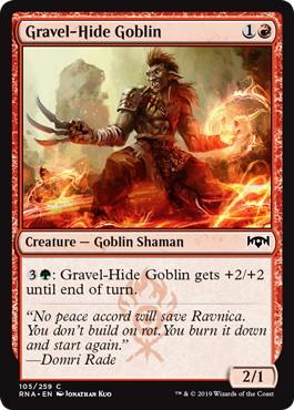 《砂利皮のゴブリン/Gravel-Hide Goblin》[RNA] 赤C