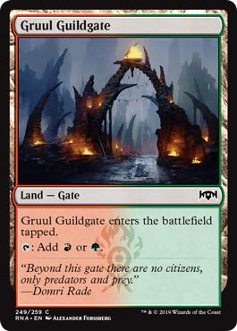《グルールのギルド門/Gruul Guildgate (249)》[RNA] 土地C
