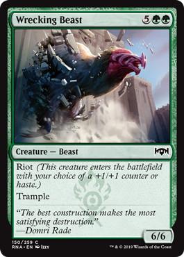 《破壊獣/Wrecking Beast》[RNA] 緑C