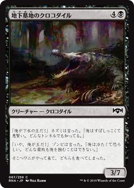 《地下墓地のクロコダイル/Catacomb Crocodile》[RNA] 黒C