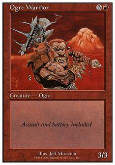《オーガの戦士/Ogre Warrior》[S00] 赤