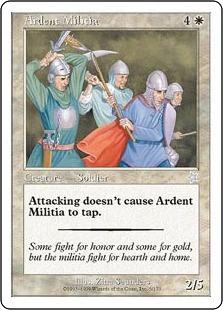 《献身的民兵団/Ardent Militia》[S99] 白U
