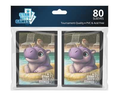 StarCityGames.com スリーブ 2015 Fall Creature Collection 《Hippo》 80枚入り