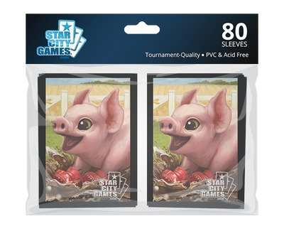 StarCityGames.com スリーブ 2015 Summer Creature Collection 《Piglet》 80枚入り