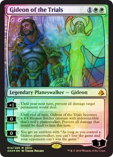《試練に臨むギデオン/Gideon of the Trials》[SDCC](2018) 白