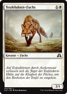 《悪魔の棲家の狐/Devilthorn Fox》[SOI] 白C