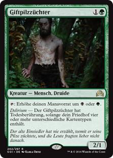 《死天狗茸の栽培者/Deathcap Cultivator》[SOI] 緑R