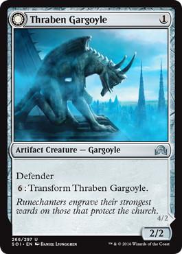 《スレイベンのガーゴイル/Thraben Gargoyle》/《石翼の反目者/Stonewing Antagonizer》[SOI] 茶U