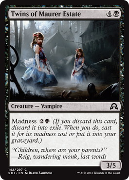 【Foil】《マウアー地所の双子/Twins of Maurer Estate》[SOI] 黒C
