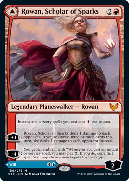 《火花の学者、ローアン/Rowan, Scholar of Sparks》[STX] 赤R
