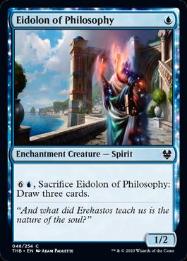 《哲学の幻霊/Eidolon of Philosophy》[THB] 青C