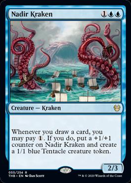 【Foil】《水底のクラーケン/Nadir Kraken》[THB] 青R