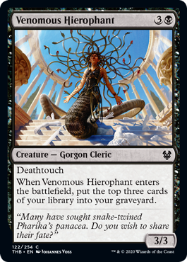 《毒の秘義司祭/Venomous Hierophant》[THB] 黒C