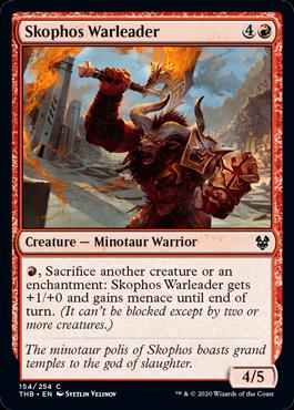 《スコフォスの戦導者/Skophos Warleader》[THB] 赤C