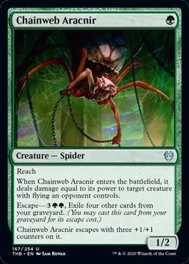 《鎖巣網のアラクニル/Chainweb Aracnir》[THB] 緑U