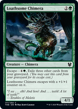 《毒々しいキマイラ/Loathsome Chimera》[THB] 緑C