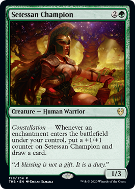 《セテッサの勇者/Setessan Champion》[THB] 緑R