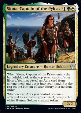 《ピレアス号の艦長、シオーナ/Siona, Captain of the Pyleas》[THB] 金U