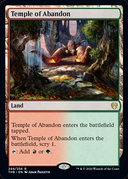 《奔放の神殿/Temple of Abandon》[THB] 土地R