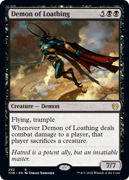 《嫌悪の悪魔/Demon of Loathing》[THB-BF] 黒R